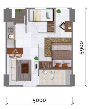 Prajawangsa City Tipe 2 Bedroom A