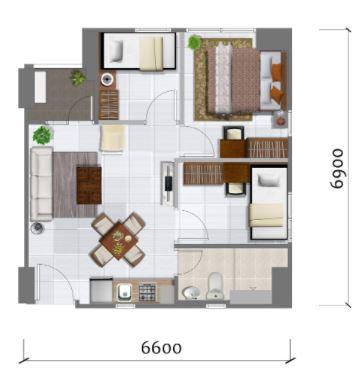 Prajawangsa City Tipe 3 Bedroom A